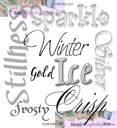 Winter Word Cloud illustration only